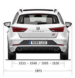 New SEAT Leon ST CUPRA Top Rear